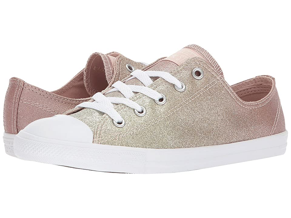 Converse Chuck Taylor(r) All Star Dainty Ox (Gold/Particle Beige/White) Women