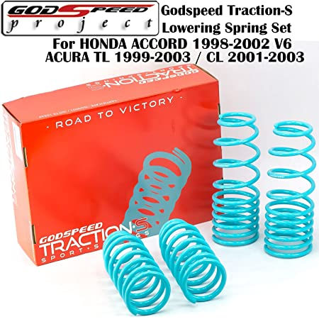 AJO Distributors For Honda Accord Acura Tsx Suspension Racing Coil Drop Lower Lowering Sport Spring Kit Red
