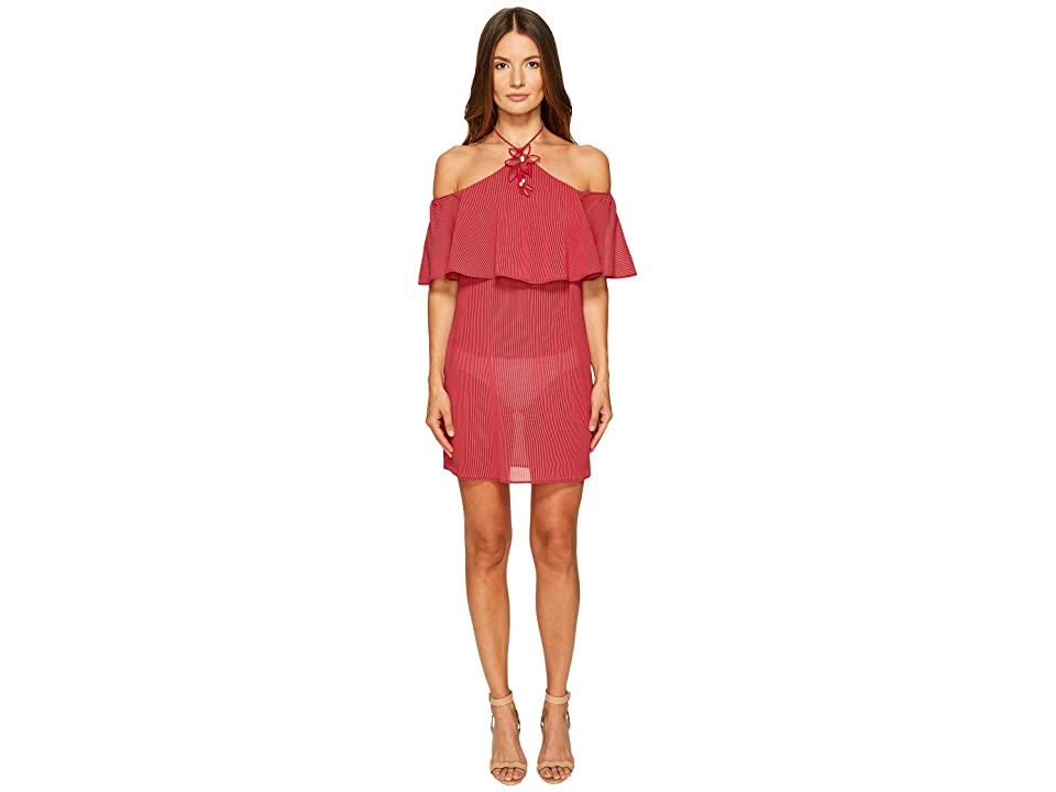 La Perla Avant Garden Halter Dress (Gessato Red) Women