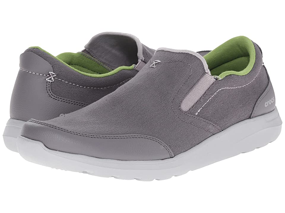 4ef676a5a01ea9 Crocs Kinsale Slip-On (Charcoal Light Grey) Men