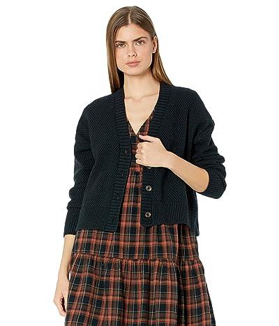 Madewell Colvin Cardigan Sweater in Cotton-Merino Yarn (True Black) Women