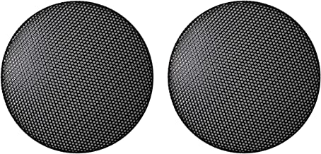 4 Inch CNSZNAT Speaker Cover Round Steel Mesh Grill Pack of 2 Pcs - Black