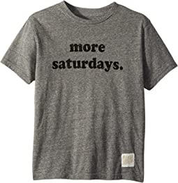 The Original Retro Brand Kids - More Saturdays Tri-blend Short Sleeve Tee (Big Kids)