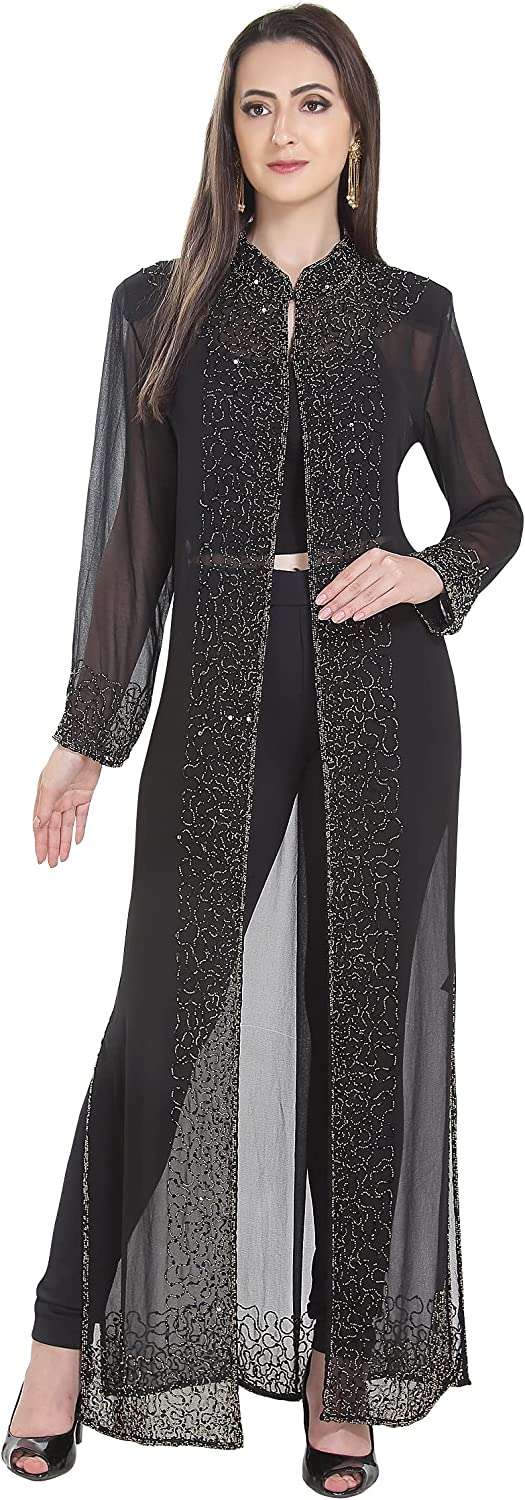 Maxim Creation Hand Embroidered Casual Jacket Shrug For Women Regular to Plus Size Cocktail Party Dress
