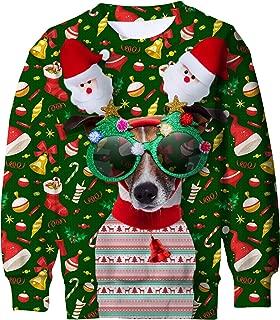 Funnycokid Kids Ugly Christmas Fleece Sweatshirt Boys Girls 3D Print Xmas Pullover Jumper 4-16Y
