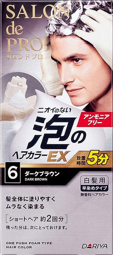 勝利利得日サロン ド プロ 泡のヘアカラーEX メンズスピーディ (白髪用) 6 <ダークブラウン> 1剤:40g+2剤:40g [医薬部外品]