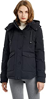 Sponsored Ad - Orolay Women's Hooded Down Jacket Winter Coat Puffer Jacket with Pockets