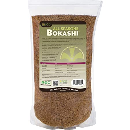SCD Probiotics All Seasons Bokashi 2.2 Gallon - Compost Starter - Dry Bokashi Bran for Kitchen Compost Bin - Compost Food & Pet Waste Quickly & Easily with Low Odor