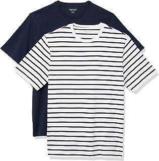 Amazon Essentials Men's Standard 2-Pack Loose-Fit Crewneck T-Shirt