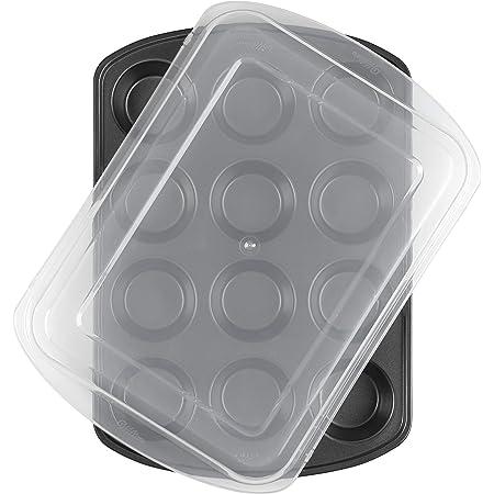 Wilton Premium Nonstick Covered Muffin Pan, 12-Cavity