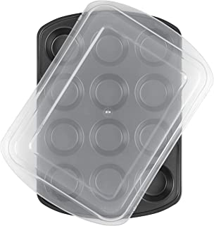 Wilton Premium Nonstick Muffin Top Pan Wilton Premium Nonstick Covered Muffin Pan, 12-Cavity 2105-1372