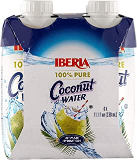 Iberia 100% Natural Coconut Water 11.1 Oz (Pack Of 4)