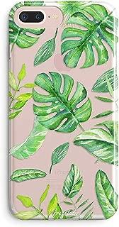 iPhone 8 Plus Case,iPhone 7 Plus Case,Girls Aloha Summer Bahama Leaf Nature Pattern Tropical Plant Palm Bahama Leaves Summer Hawaii Case for Women Clear Soft Case for iPhone 7 Plus(iPhone 8 Plus)