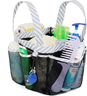 Haundry Mesh Shower Caddy Tote, Large College Dorm Bathroom Caddy Organizer with Key Hook..