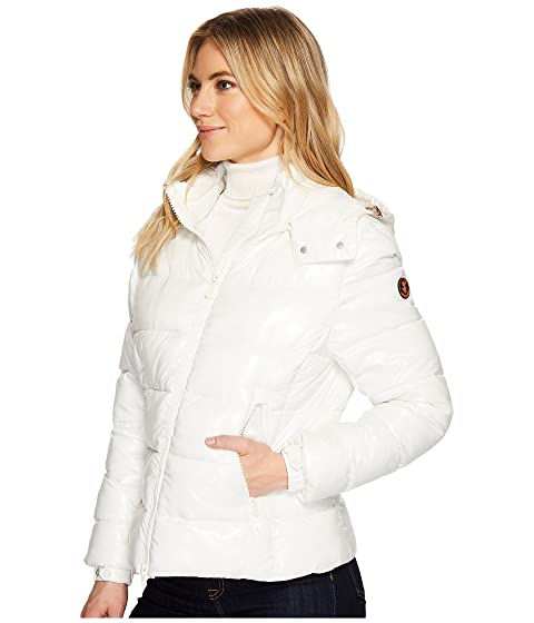 Save the Duck Short Coat with Removable Hood Off-White Exclusive Recommend Cheap Wide Range Of Online 100% Authentic ePoGgy6lec