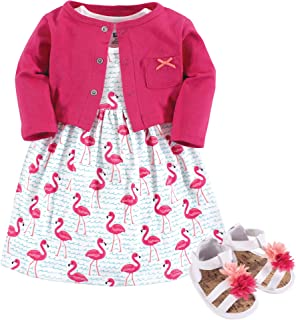 Girls' Cotton Dress, Cardigan and Shoe Set