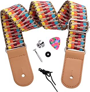 ウクレレストラップショルダー ミニギターストラップ 可愛い エキゾチックスタイル Ukulele strap (rainbow)