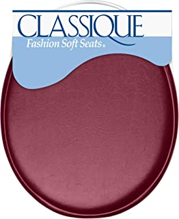 Ginsey Standard Soft Toilet Seat with Plastic Hinges, Merlot