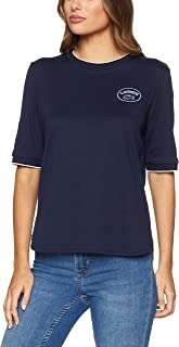 Lacoste Women's Badge Logo Tee, Navy Blue/Flour