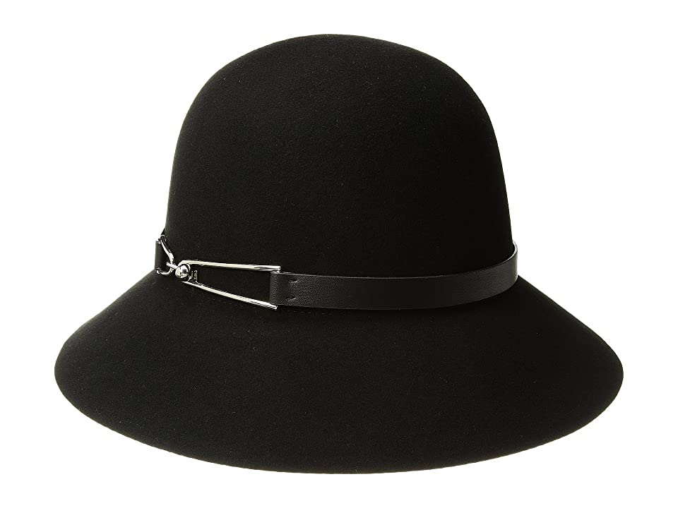 1930s Style Hats | 30s Ladies Hats San Diego Hat Company Packable Cloche Black Caps $67.50 AT vintagedancer.com