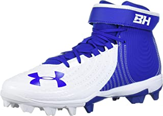Under Armour Men's Harper 4 Mid RM Baseball Shoe, Royal (400)/White, 11