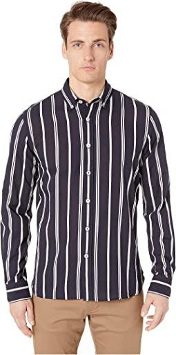 Satin Stripe Button Down