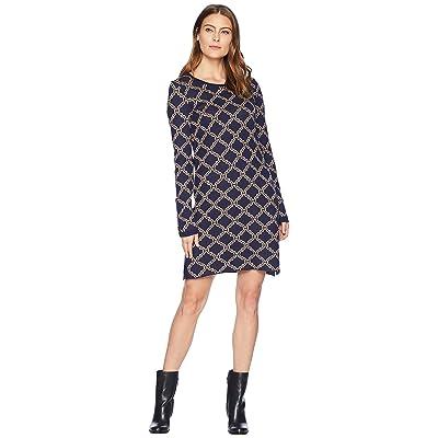 Hatley Abigail Sweater Dress (Blue) Women