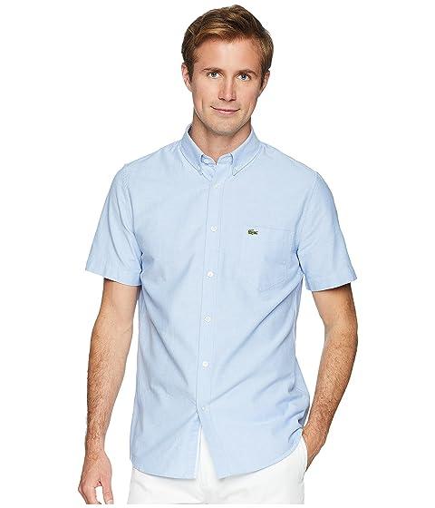 4b22a21d363fb0 Lacoste Short Sleeve Oxford Button Down Collar Regular at Zappos.com