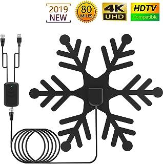 Antena de TV digital Miescher HDTV antena interior ultradelgada con cable de 10/m de largo para TDT y se/ñales de TV anal/ógicas