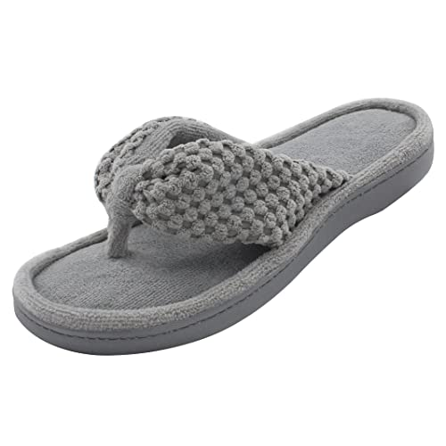120bfcc7efef5b ULTRAIDEAS Women s Memory Foam Flip Flop Slippers with Cozy Terry Lining