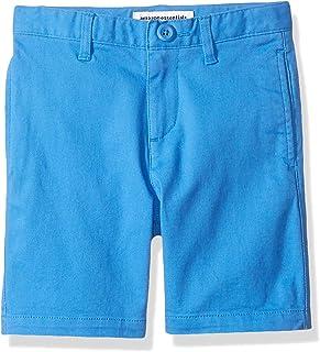 Amazon Essentials Woven Flat-Front Khaki Shorts Niños