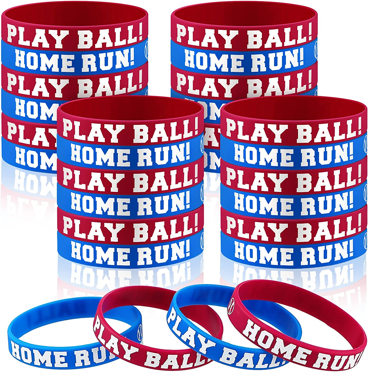 24 Pieces Sales results No. 1 Baseball Dealing full price reduction Bracelets Boy Bas Silicone