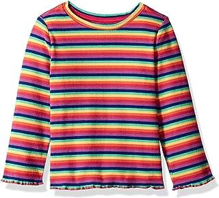 Gymboree Girls' Big Long Sleeve Casual Knit Top, rainbow rib, 2T