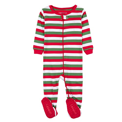 Leveret Striped Baby Boys Girls Footed Pajamas Sleeper 100% Cotton Kids    Toddler Christmas Pjs 513860f0b