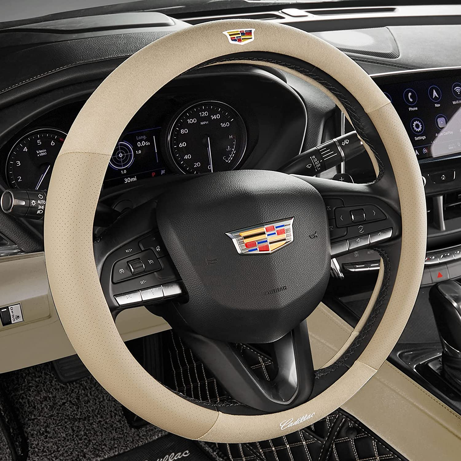 Custom-Fit Car Steering Wheel Cover for CT4 CT6 CT5 Daily bargain sale trust Cadillac