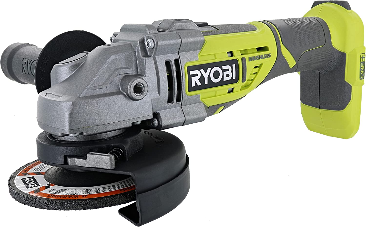Ryobi P423 18V One+ Brushless 4-1/2&Quot; 10,400 Rpm Grinder And Metal Cutter W/ Adjustable 3-Position Side Handle And Onboard Spanner Wrench (Battery Not Included, Power Tool Only)