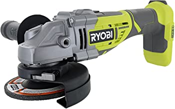 """Ryobi P423 18V One+ Brushless 4-1/2"""" 10,400 RPM Grinder and Metal Cutter w/ Adjustable 3-Position Side Handle and Onboard ..."""