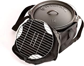 CampMaid Mega Dutch Oven Bag - Extra Pockets Holds Tools & Accessories - Carry Bag for 12 or Smaller Cast Iron -