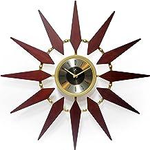 ساعة حائط عصرية Starburst من Infinity Instruments Orion مقاس 76.2 سم بلون الجوز في منتصف القرن