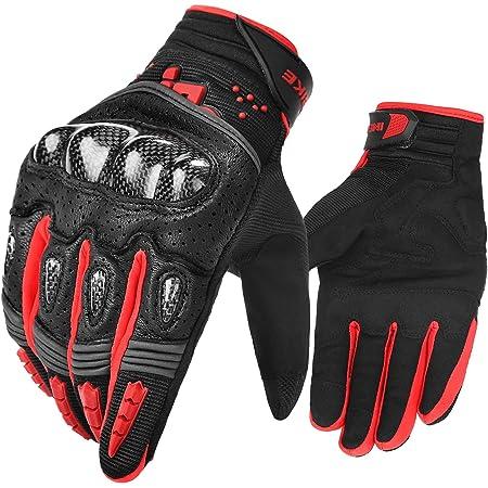 Inbike Motorrad Handschuhe Herren Damen Motorradhandschuhe Atmungsaktivität Strapazierfähig Hartschalen Schutz Für Motorrad Radfahren Camping Outdoor Schwarz Rot L Im803 Auto
