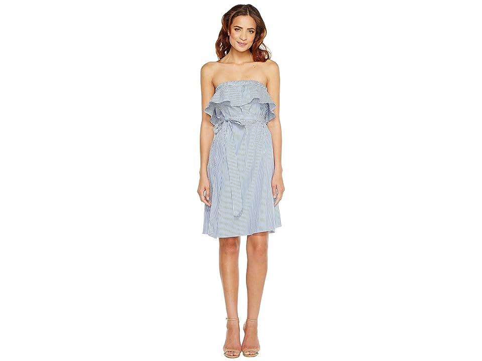 MICHAEL Michael Kors Strapless Flounce Dress (Tide Blue) Women