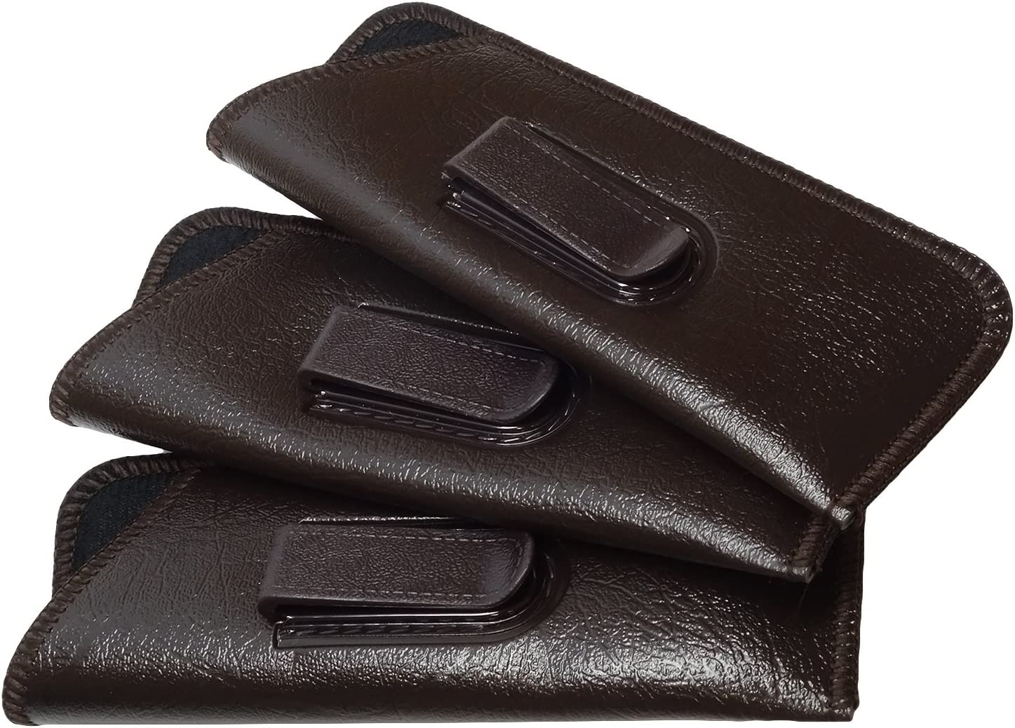 Mens Slim Half-Clip Case in Brown (3Pack)