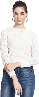 MansiCollections Women's Wollen Round Neck Knitted Pullovers