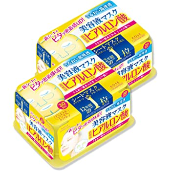 【Amazon.co.jp限定】 KOSE コーセー クリアターン エッセンスマスク (ヒアルロン酸) フェイスマスク 30枚入り×2個+おまけ付き