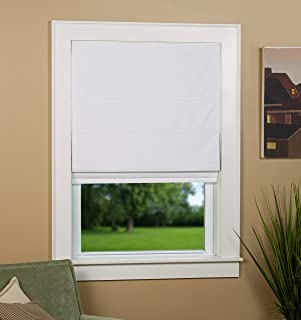 Green Mountain Vista Thermal Blackout Cordless Roman Shade, 27 by 63-Inch, White