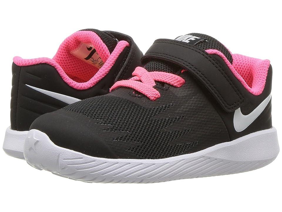 Nike Kids Star Runner TDV (Infant/Toddler) (Black/White/Volt/Racer Pink) Girls Shoes