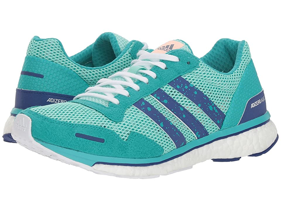 Image of adidas Running Adizero Adios 3 (Clear Mint/Mystery Ink/Hi-Res Aqua) Women's Shoes