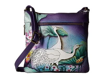 Anuschka Handbags 550 Expandable Travel Crossbody (Peaceful Garden) Handbags