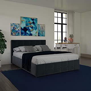 DHP Rose Storage Upholstered Bed, Blue Velvet, Queen
