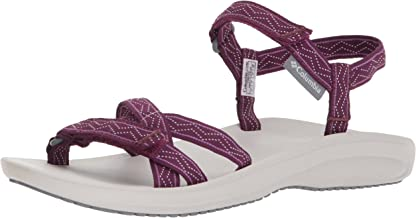 Columbia Women's WAVE TRAIN Sport Sandal, Dark Raspberry, White, 10 Regular US
